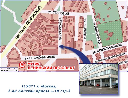 2й донской проезд д 10 строение 4 на карте москвы